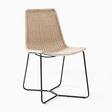Outdoor Slope Collection Natural Dining Chair-Individual - West Elm