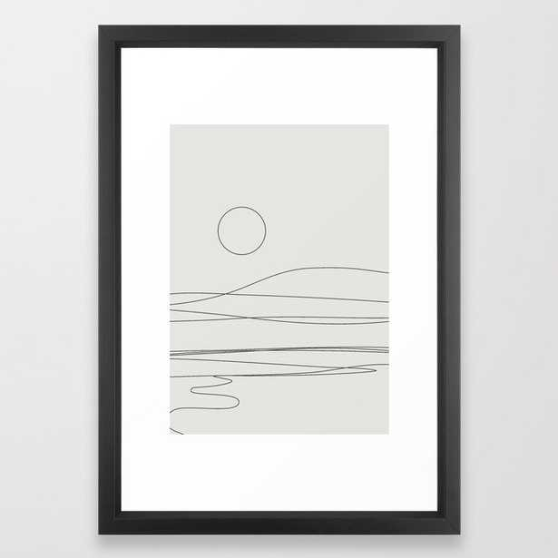 Abstract Landscape 15c Framed Art Print by The Old Art Studio - Vector Black - SMALL-15x21 - Society6