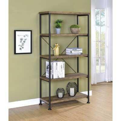 63'' H x 31.5'' W Metal Etagere Bookcase - Wayfair
