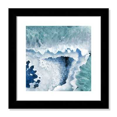 'Agate Blue And Turquoise I' Framed Graphic Art Print - Wayfair