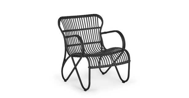 Merle Graphite Lounge Chair - Article