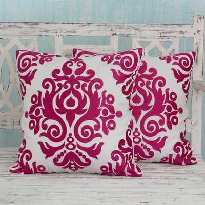 Azra Embroidered Cotton Throw Pillow Cover - Wayfair