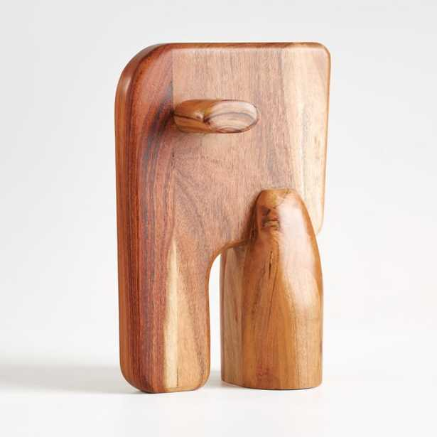 Abstract Wood Elephant Decor - Crate and Barrel