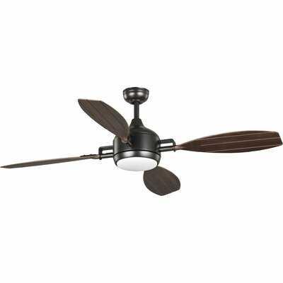 "56"" Holcomb 4 Blade LED Ceiling Fan, Light Kit Included - Birch Lane"
