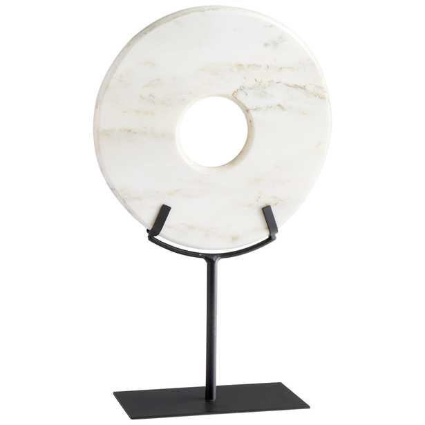 White Disk On Stand, Large  - Onyx Rowe
