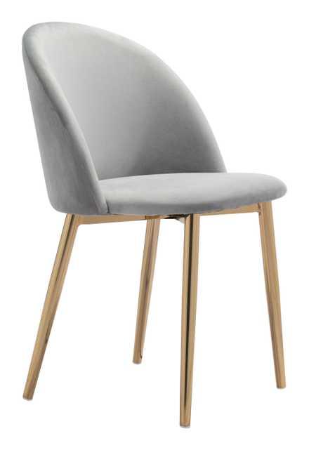Cozy Dining Chair (Set of 2) Gray - Zuri Studios