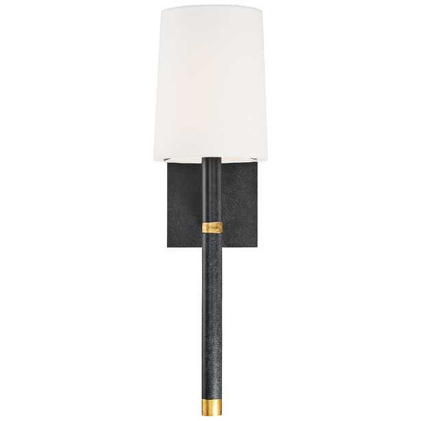 """Crystorama Weston 14 1/2"""" High Black Wall Sconce - Style # 84P58 - Lamps Plus"""
