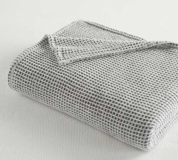 Gray Waffle Weave Blanket, King/Cal. King - Pottery Barn