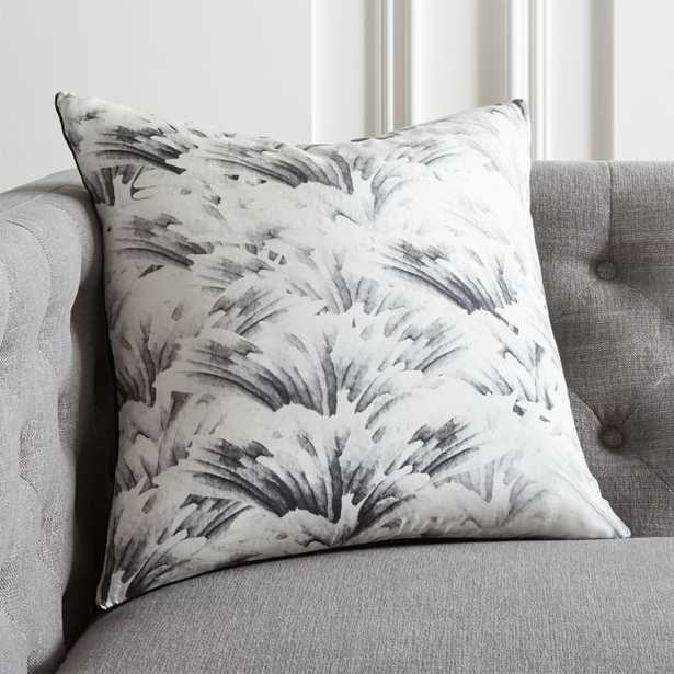 """18"""" Wings Black and White Pillow with Down-Alternative Insert - CB2"""