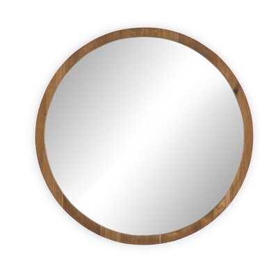 Anner Round Mirror - Wayfair