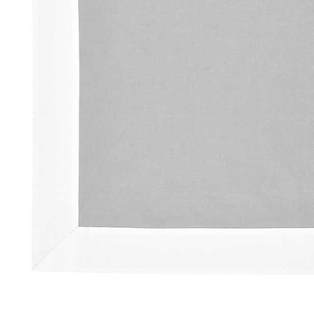 "Bordered Linen Drapery Panel - Gray  96"" - Ballard Designs - Ballard Designs"