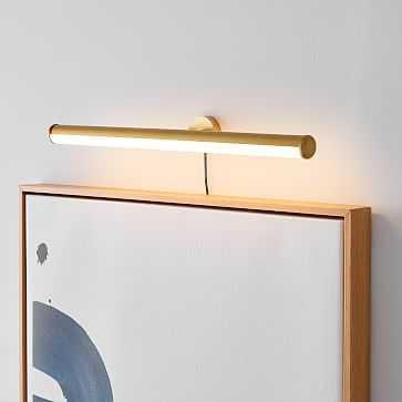 Light Rods Art Sconce, Antique Brass - West Elm