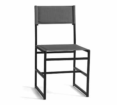 Hardy Outdoor Dining Chair, Gray - Pottery Barn