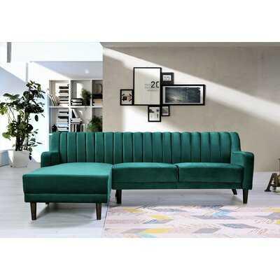"Cheeseman 89"" Wide Velvet Sofa & Chaise - Wayfair"