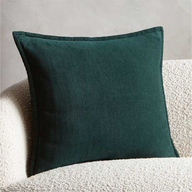 """20"""" Ava Dark Teal Pillow with Feather-Down Insert - CB2"""
