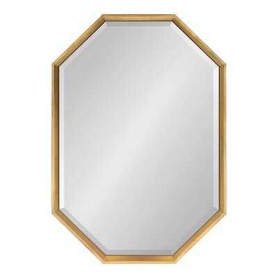 Kate and Laurel Calter Large Elongated Octagon Frame Wall Mirror, 25.5 x 37.5, Black - Wayfair