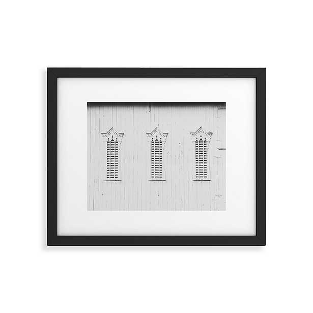 """Rustic White Barn by Ann Hudec - Modern Framed Art Print Black 16"""" x 20"""" - Studio Marcette"""