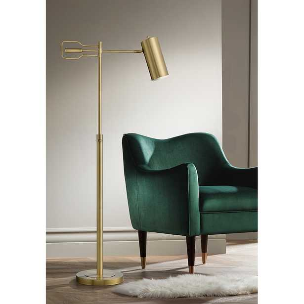 Kaylie Brass Finish Adjustable Task Reading Floor Lamp - Style # 88G99 - Lamps Plus