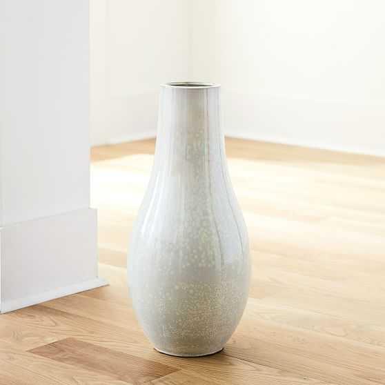 Reactive Floor Vases, Tall, White - West Elm