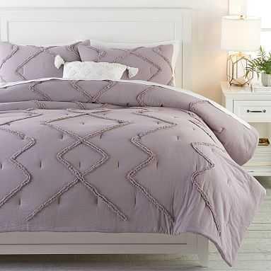 Ashlyn Tufted Comforter, Twin/Twin XL, Fig - Pottery Barn Teen