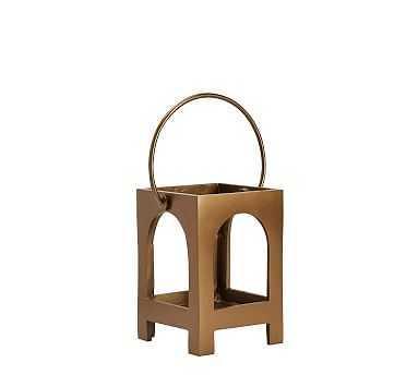 Danika Brass Lantern, Mini - Pottery Barn