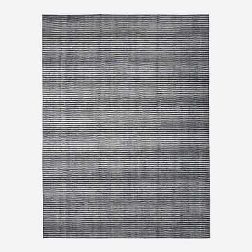 Terra Stripes Rug, 5x8, Slate - West Elm
