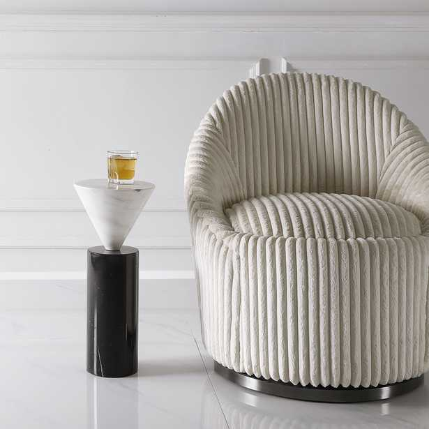Top Hat Marble Drink Table - Hudsonhill Foundry