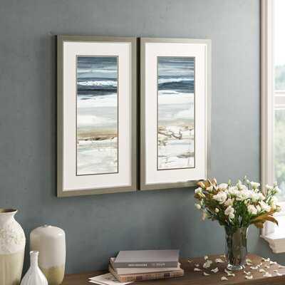 'Horizon' 2 Piece Picture Frame Graphic Art Set - Birch Lane