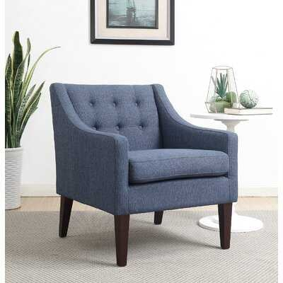 "Clopton 21.5"" Armchair, Navy Blue Polyester Blend - Wayfair"
