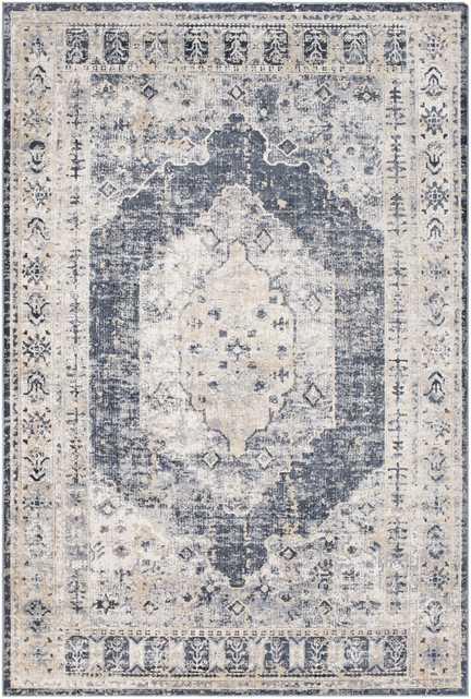 Durham Rug, 9' x 12', Blue - Neva Home