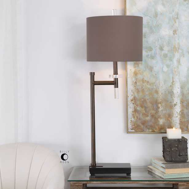 Oletha Dark Bronze Buffet Lamp - Hudsonhill Foundry
