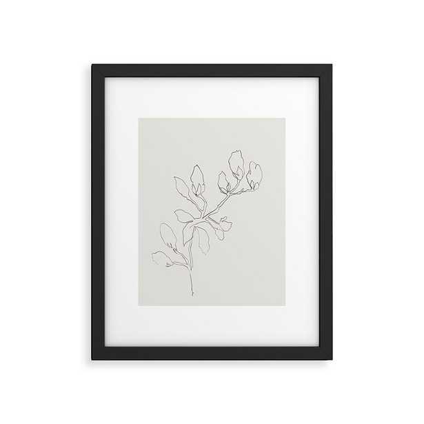 "Floral Study No 3 by Megan Galante - Modern Framed Art Print Black 18"" x 24"" - Wander Print Co."