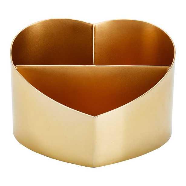 Emily & Meritt Gold Heart Makeup Organizer - Pottery Barn Teen