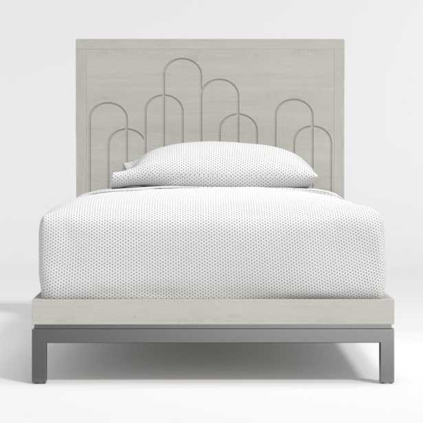 Wren Carved Twin Bed - Crate and Barrel