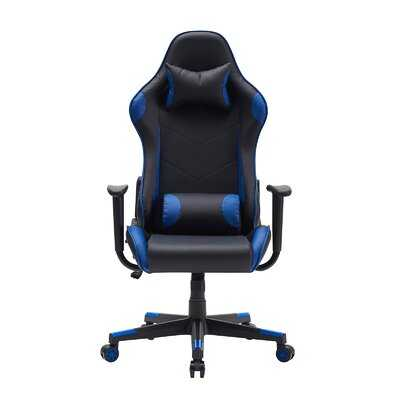Gaming Chair Ergonomic Recliner Computer Chair Swivel 0Ffice Desk Chair, Blue And Black - Wayfair