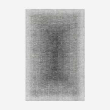 Shaded Border Rug, Slate, 9'x12' - West Elm