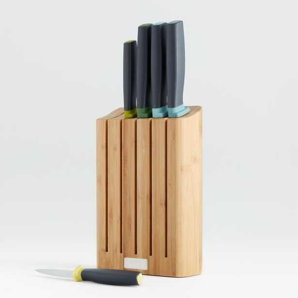 Joseph Joseph 6-Piece Elevate ™ Knife Set with Bamboo Wood Block - Crate and Barrel