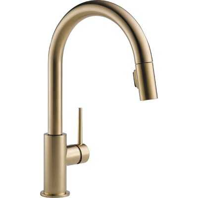 Trinsic Pull Down Single Handle Kitchen Faucet with MagnaTite® Docking and Diamond Seal Technology - AllModern