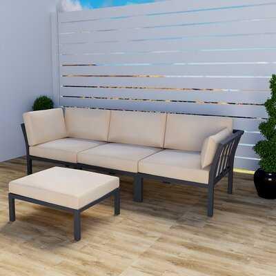 Cortesani Patio Sofa with Cushion - Wayfair
