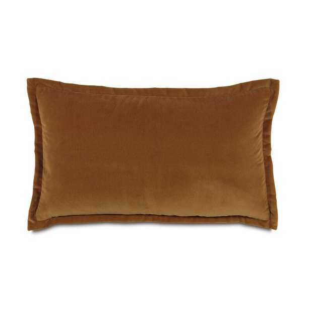"""Eastern Accents Jackson Solid Velvet Pillow Size: 15"""" x 26"""", Color: Rust - Perigold"""