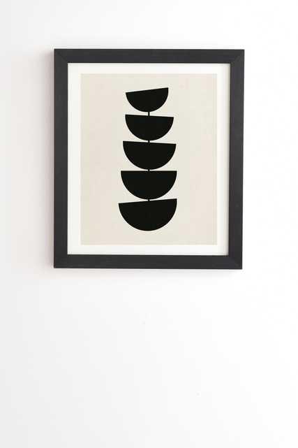 "Stem by Rose Beck - Framed Wall Art Basic Black 11"" x 13"" - Wander Print Co."