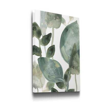 'Water Leaves II' - Wrapped Canvas Painting Print - Wayfair