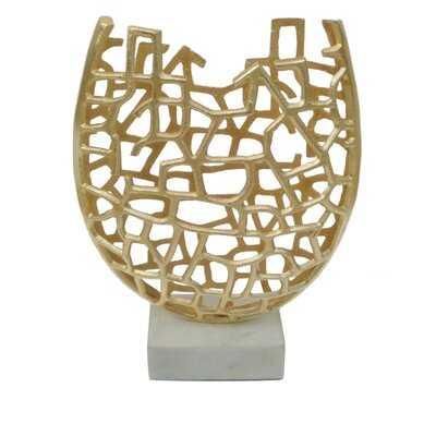 Alexia Aluminum Cutout Floor Vase - Wayfair