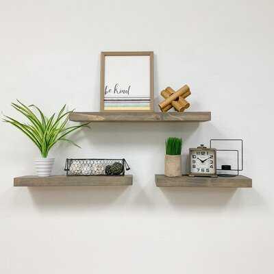Abarca 3- Piece Pine Solid Wood Floating Shelf - Wayfair