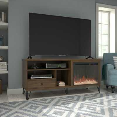 Forest Park TV Stand for TVs up to 65 inches with Electric Fireplace Included - Wayfair