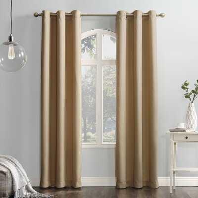 Matson Solid Semi-Sheer Grommet Single Curtain Panel - AllModern