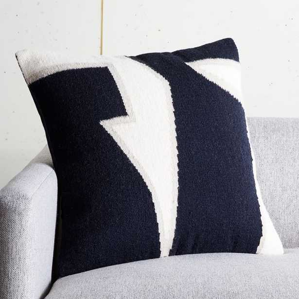 """20"""" Sandro Woven Pillow with Feather-Down Insert - CB2"""