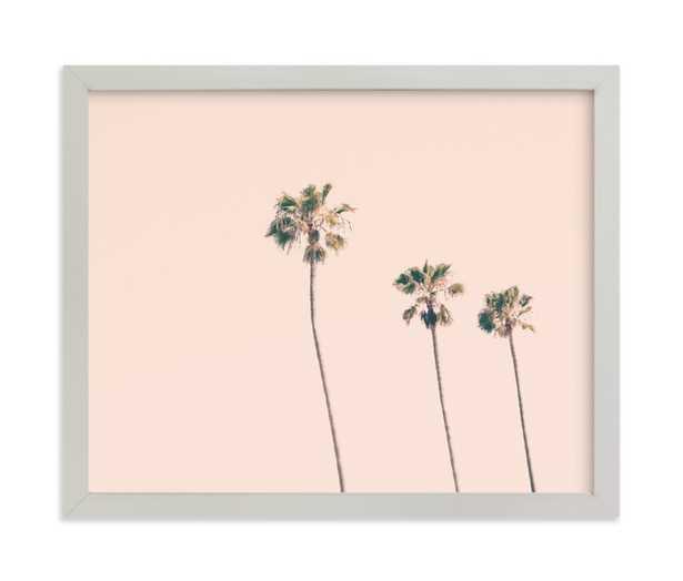 Pink Sky & Palms Art Print - Minted