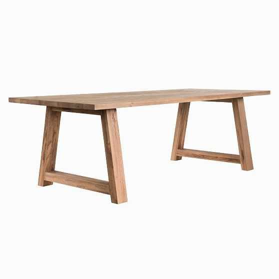 "Amelie Dining Table, 96"", Rustic Oak - West Elm"