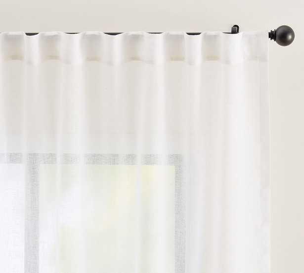 """Emery Rod Pocket Sheer Curtain, 50 x 108"""", White - Pottery Barn"""